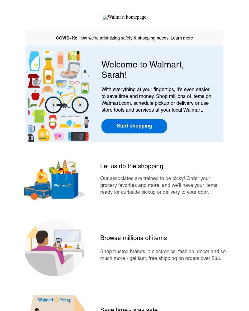 Onboarding on Walmart video screenshot