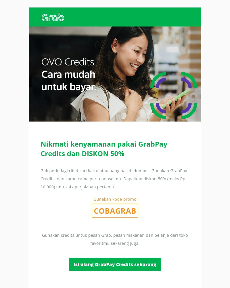 Screenshot of email from: no-reply@grab.com