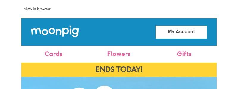 Buying something on Moonpig - user flow design inspiration