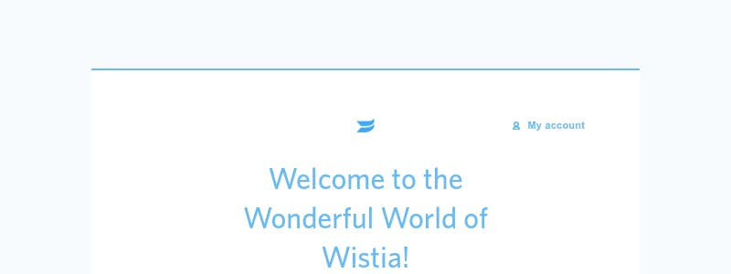 Onboarding on Wistia - user flow design inspiration