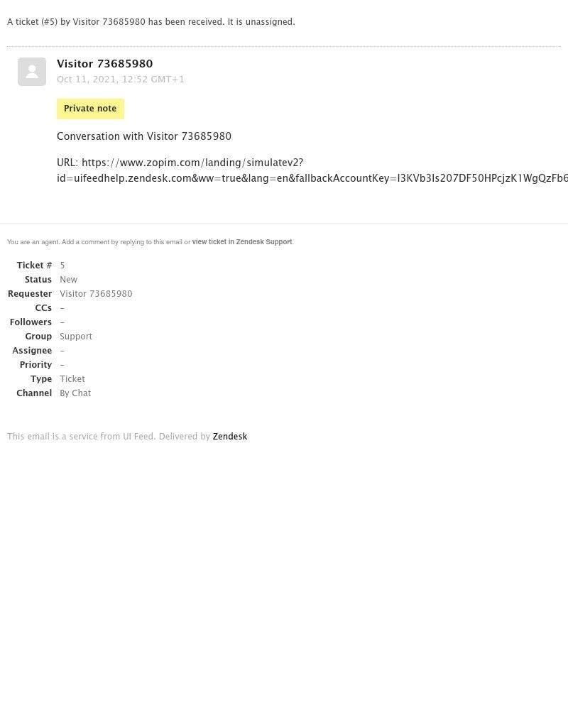 Accepting an invite on Zendesk video screenshot
