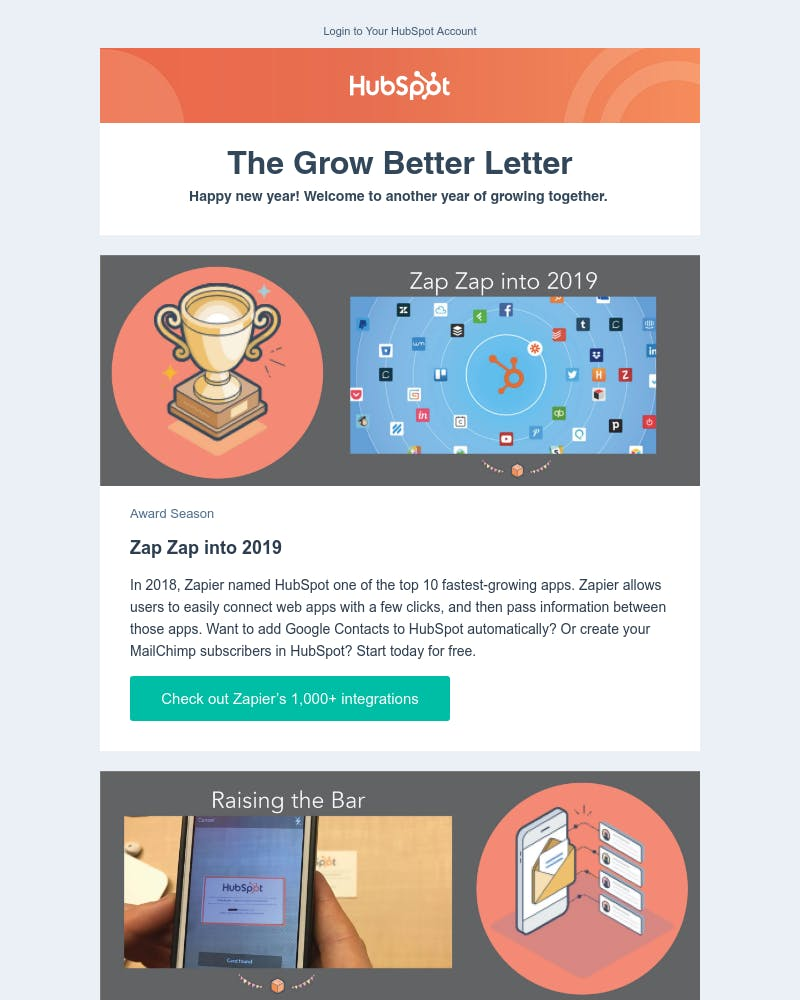 Invited user on HubSpot CRM - Email design inspiration