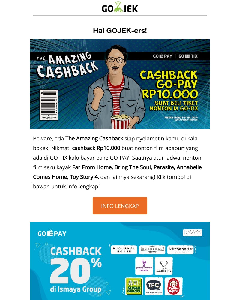 Screenshot of email from: no-reply@marketing.go-jek.com