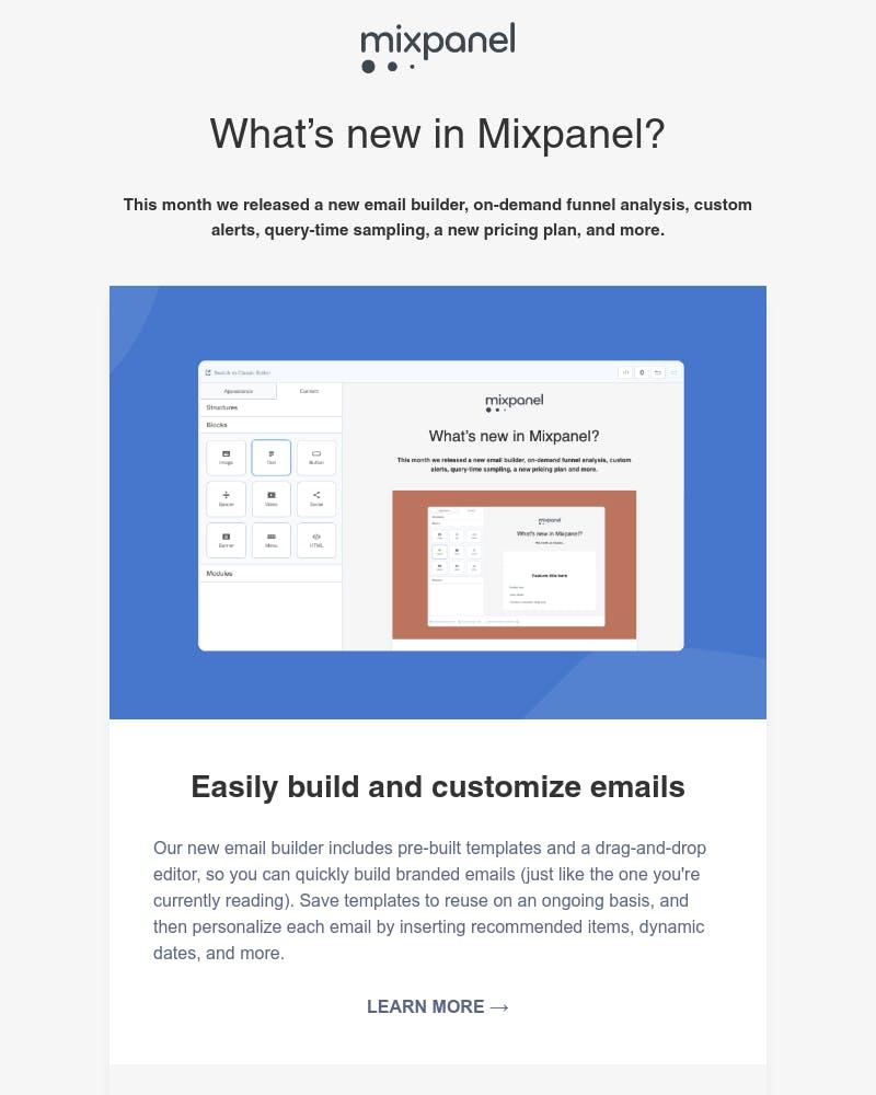 Registered user on Mixpanel - Email design inspiration