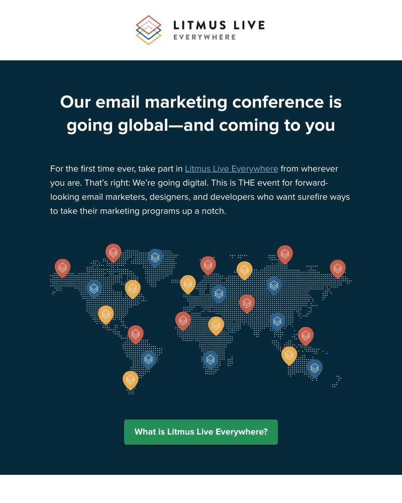 Screenshot of email from: conference@email.litmus.com